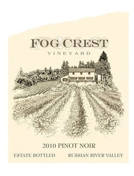 Fog Crest Vineyard wine label