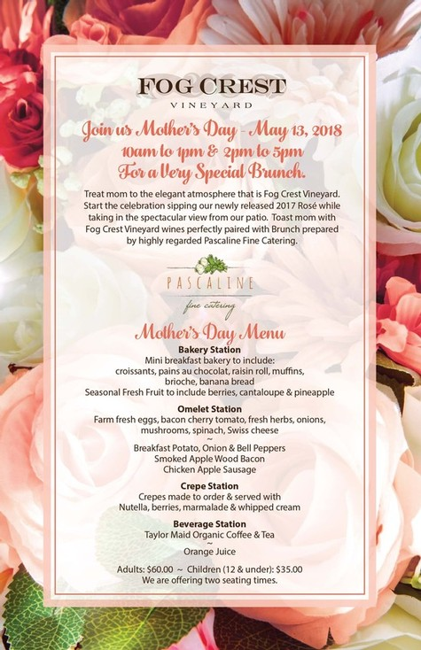 Mother's Day at Fog Crest Vineyard 2018