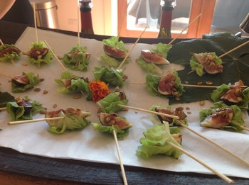 Handlebar Farms Lettuce and Fig Skewers