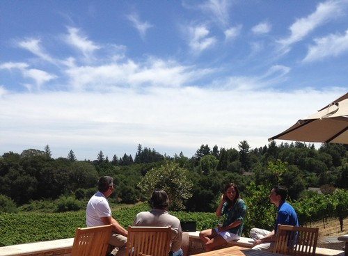 On the patio at Fog Crest Vineyard - Sonoma, CA
