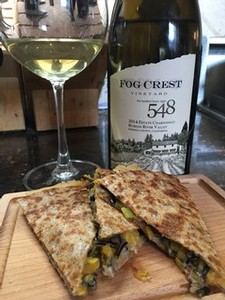 Wild Rice Quesadillas with Chardonnay