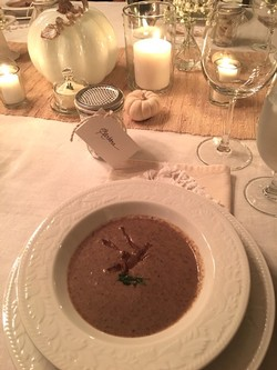 Creamy Mushroom Soup for Thanksgiving Dinner