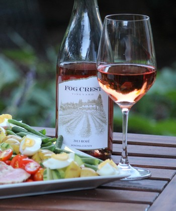 Rosé with Salad Nicoise