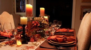 Fall holiday tablescape