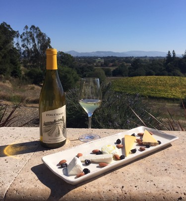 Fog Crest Vineyard wine and cheese pairing