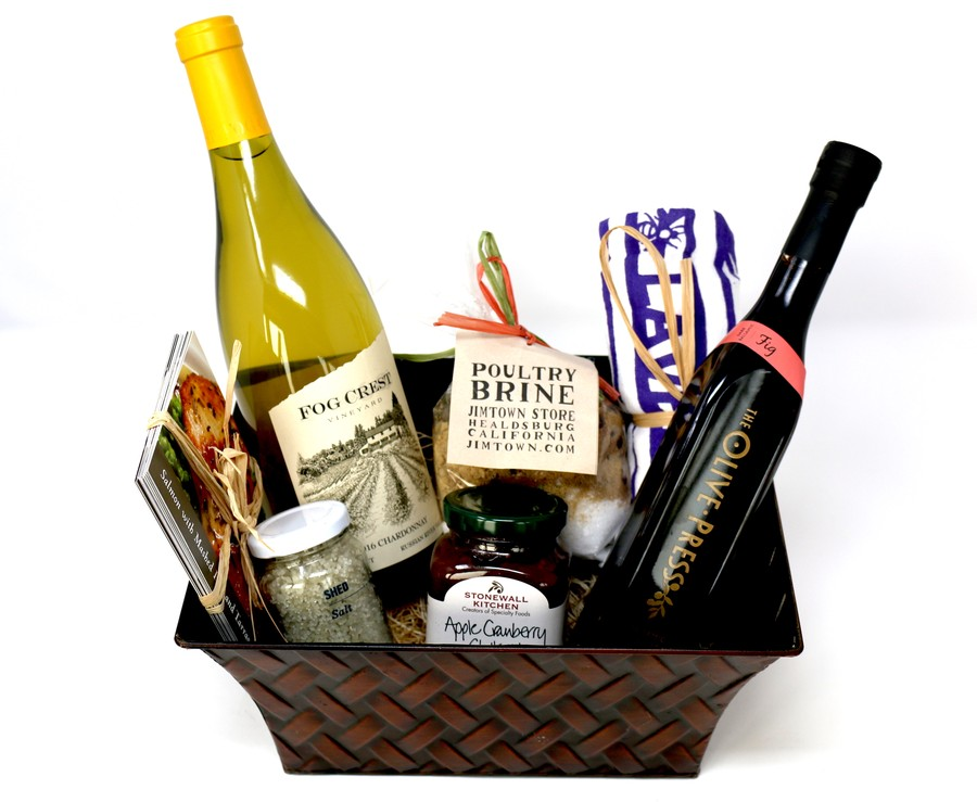 Cook's Gift Basket with Chardonnay
