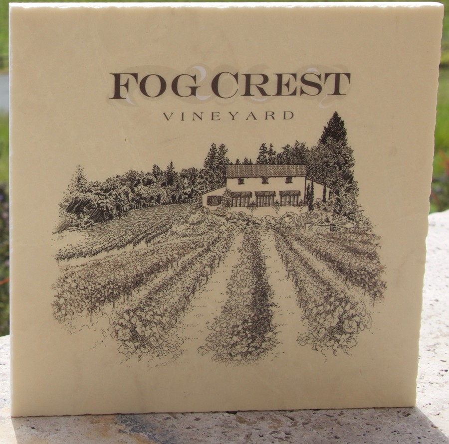 Marble Trivet Fog Crest Vineyard Label