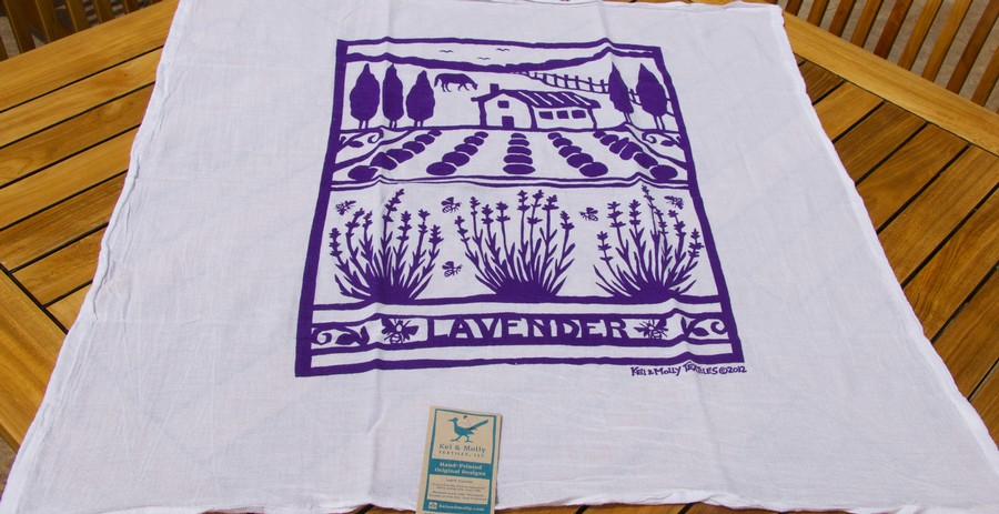 Wine Country Towel-Lavender Farm