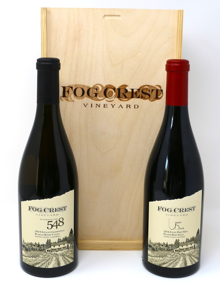 2 Bottle Gift Set: 548 Chardonnay and Upper Block Pinot Noir