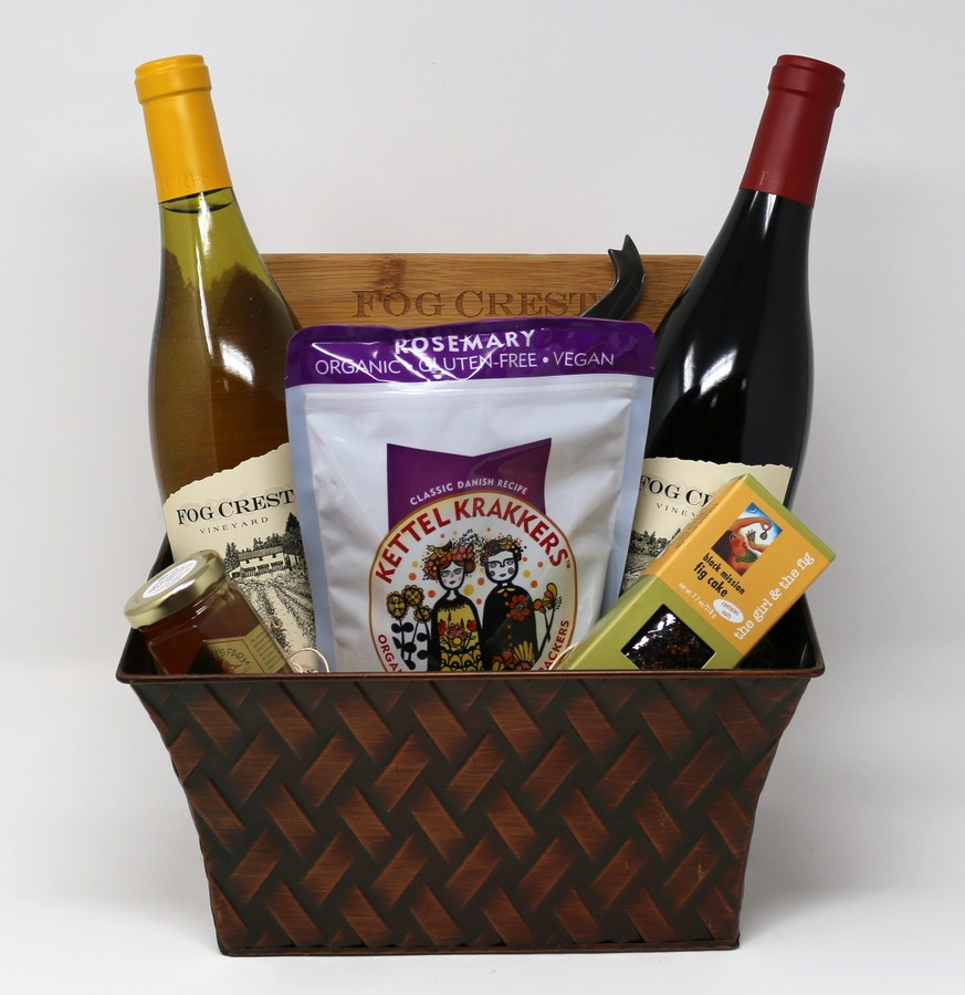 Wine & Cheese Board Gift Baskets