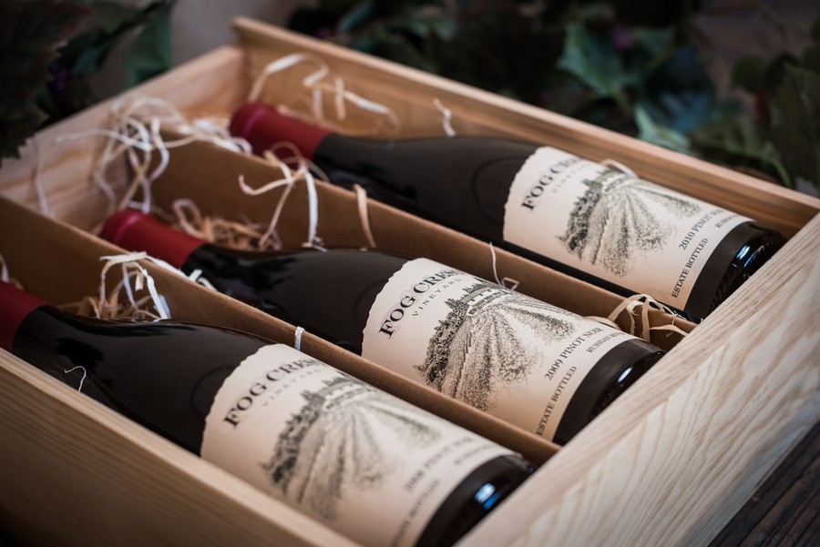 3 Bottle Gift Box Estate Pinot Noir Vertical Vintages 2008,2009 & 2010