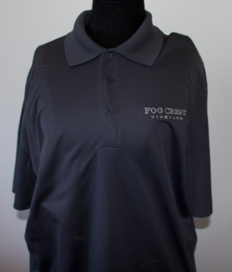 Men's Grey Polo Shirt - L