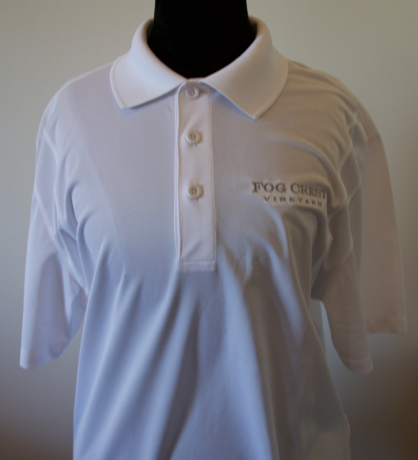 Men's White Polo Shirt - M