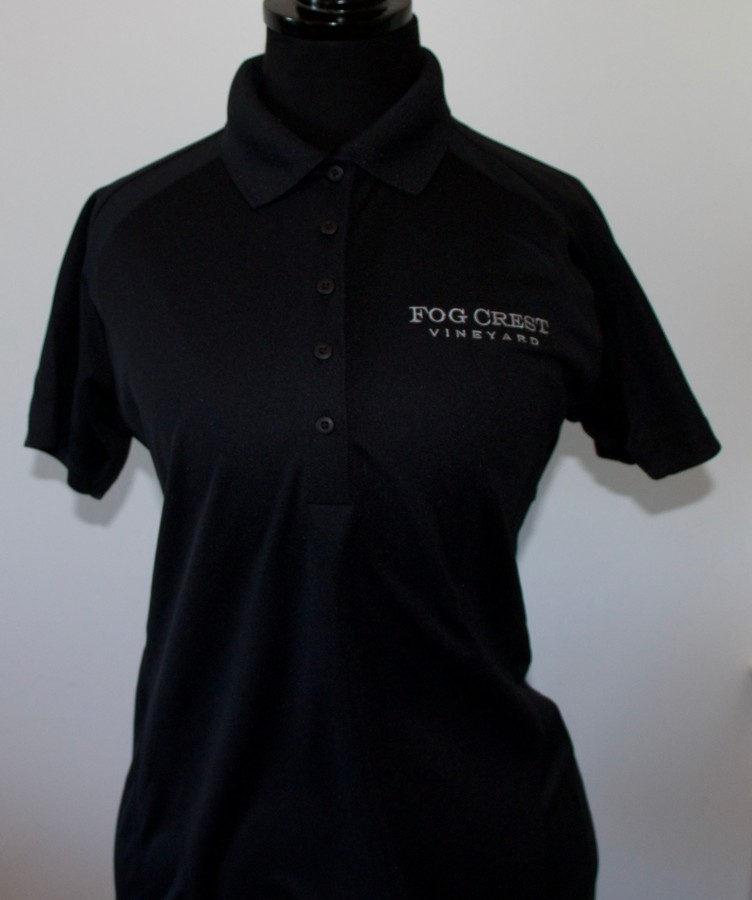 Women's Black Polo Shirt-M