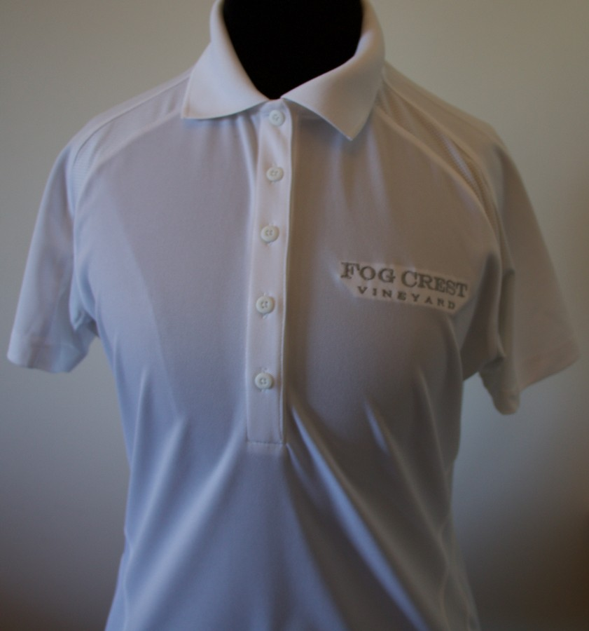 Women's White Polo Shirt-L