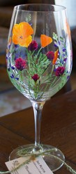 Hand Painted Wildflower Glass