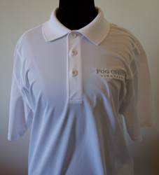 Men's White Polo Shirt - L